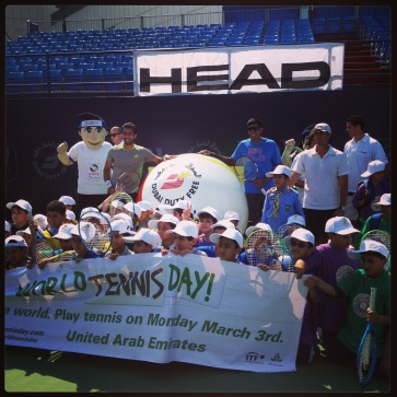 Special Needs Tennis Clinic coverage for Dubai Duty Free Tennis 2014 Instagram.