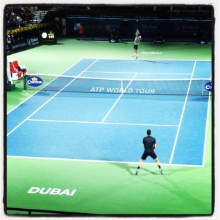 Captured for official Dubai Duty Free Tennis 2014 Instagram.