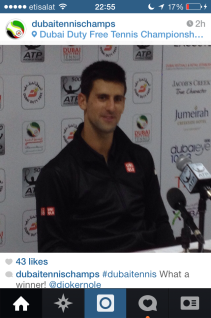 Press conference, Jovak Djokovic, official Dubai Duty Free Tennis 2014.