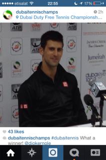 Press conference, Jovak Djokovic, official Dubai Duty Free Tennis 2014.