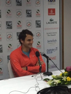 Roger Federer press conference. Captured for the official Dubai Duty Free Tennis Instagram.