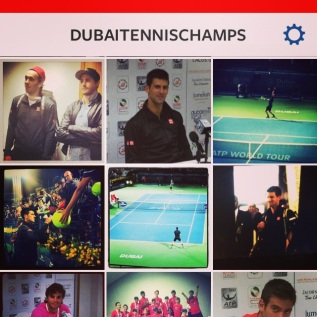 Some of our work for the official Dubai Duty Free Tennis 2014 Instagram.