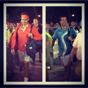 On the way to the match! Captured for official Dubai Duty Free Tennis 2014 Instagram.