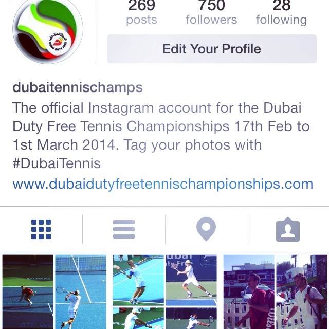 Part of the social media work we did for Captured for the official Dubai Duty Free Tennis channels.