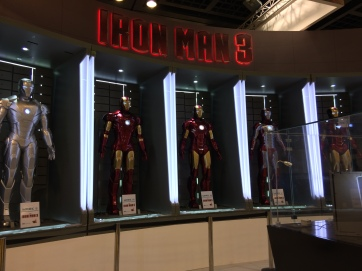 Iron Man on display.